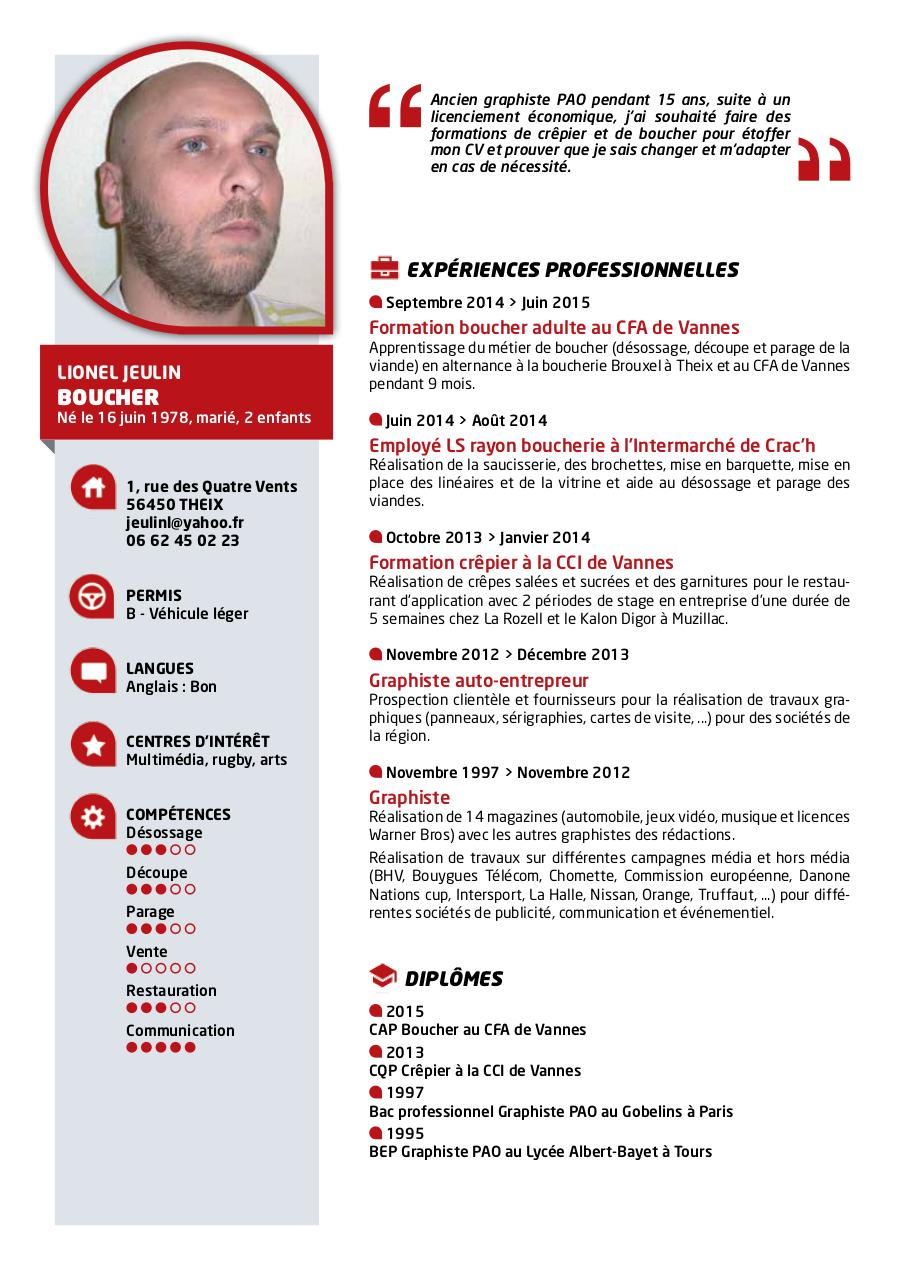 cv boucher exemple