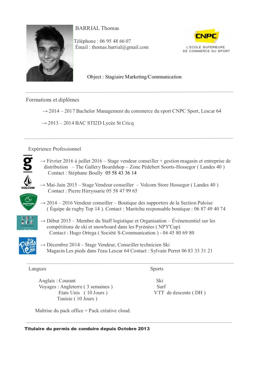 la lettre de motivation cv