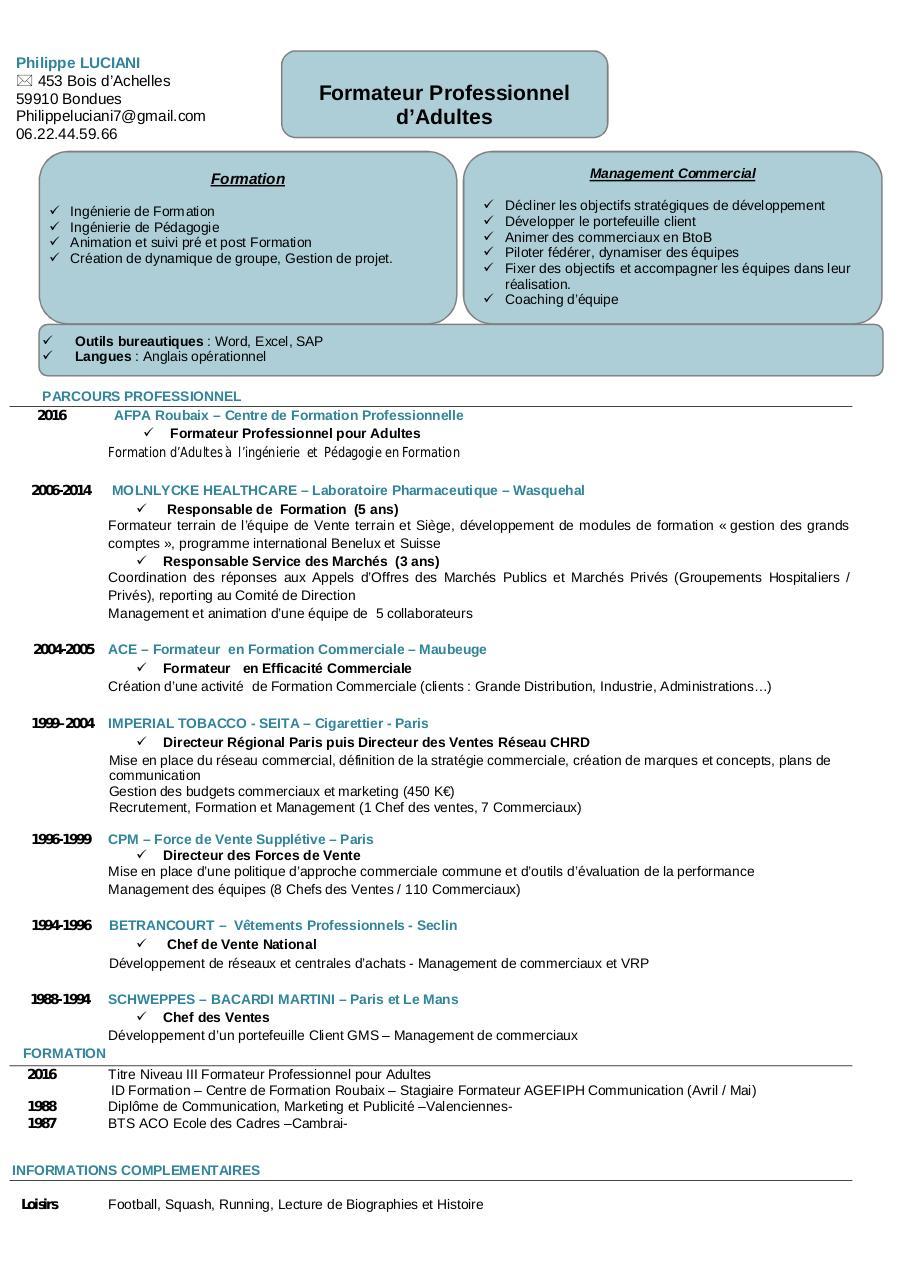 cv pour formation pharmaceutique