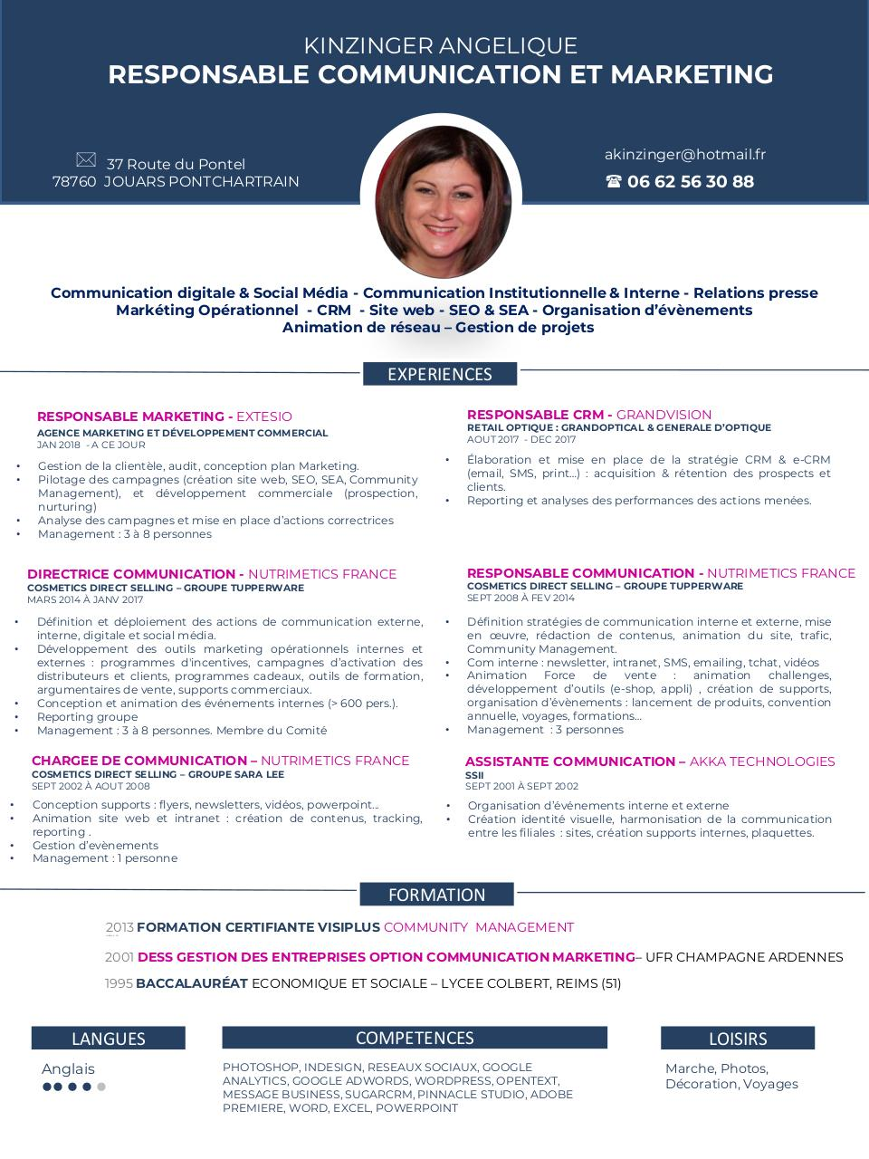 cv competences en communication