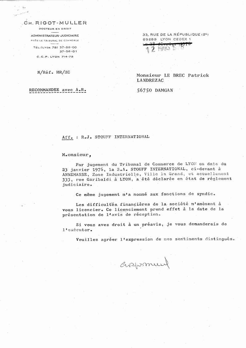 lettre licenciement nourrice agrée