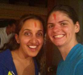 Paula and I after the Shaman cleansing