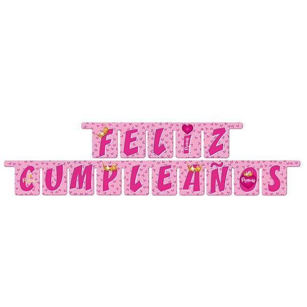 Guirnalda letras Feliz Cumpleaños Princess✅ por sólo 2,85 \u20ac Tienda