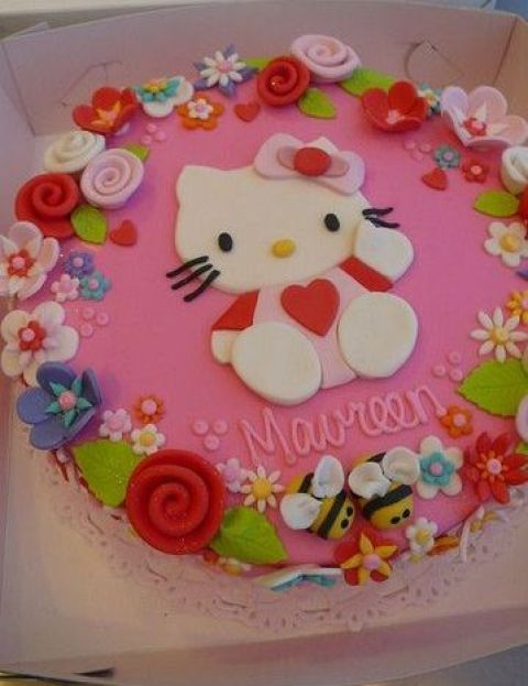 Kitty decoracion de tortas for Decoracion espejo en tortas