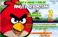 Invitaciones de Angry Birds Gratis