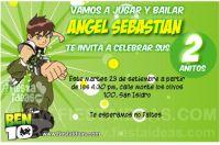 Invitaciones de Ben 10 gratis