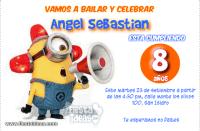 Invitaciones de mi Villano Favorito 2 Minions con megafono
