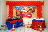 ideas de decoración fiesta cars rayo mcqueen