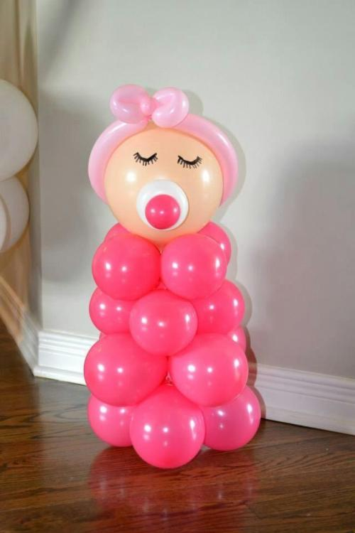 15 ideas para decoracion de baby shower con globos la mas for Decoracion baby shower nina