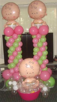 15 ideas para decoracion de baby shower con globos la mas - Decoracion con bombas para baby shower ...