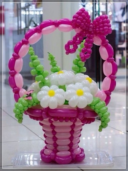 20 decoraciones de flores con globos super creativas for Decoracion con plantas para fiestas