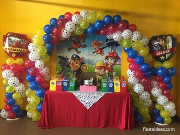 Fiesta de paw patrol patrulla canina con decoraciones for Ideas decoracion fiesta