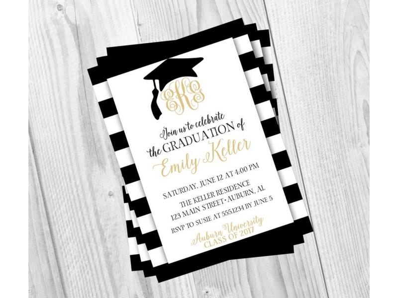 ▷ 70 Invitaciones de graduación para editar (Originales ideas) 2018