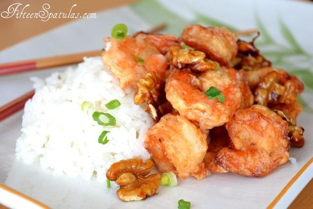 Honey Walnut Shrimp » Fifteen Spatulas