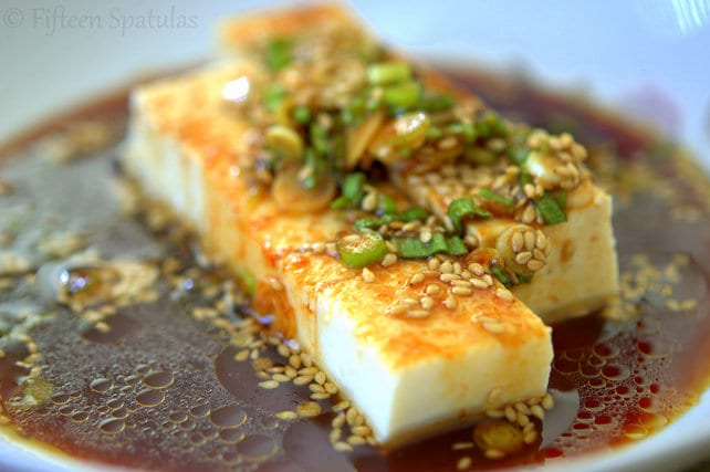 Chilled Tofu with Scallions and Soy Sauce