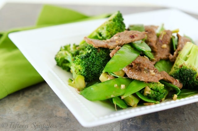 Beef, Broccoli & Snow Pea Stir Fry