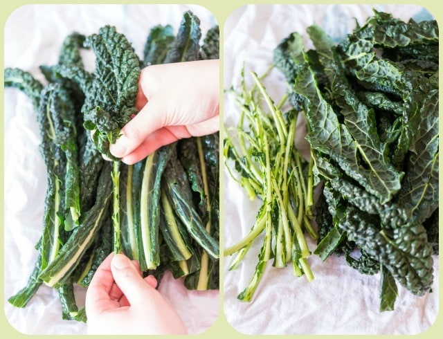 How to Strip Kale Leaves for Salad