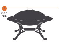 "60"" Rugged Series Round Fire Pit Cover"