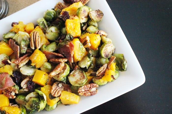 Brussels Sprouts and Butternut Squash Salad