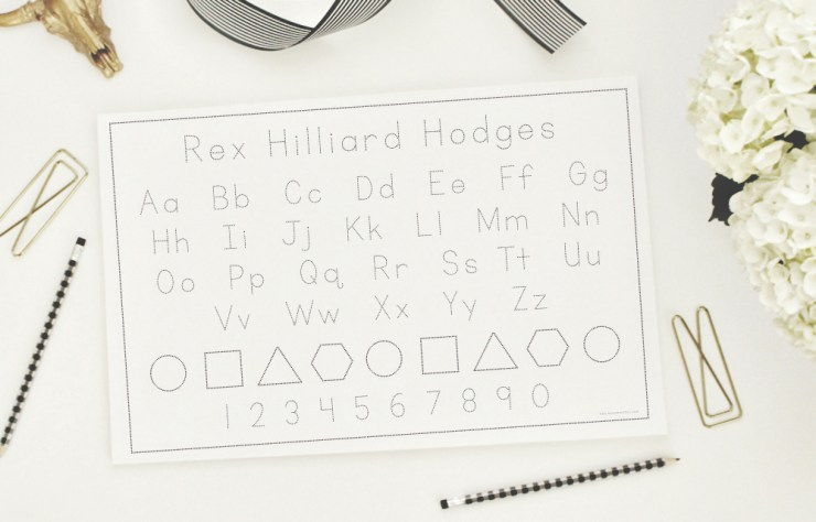 Custom Alphabet Tracing Pads in the Etsy shop!