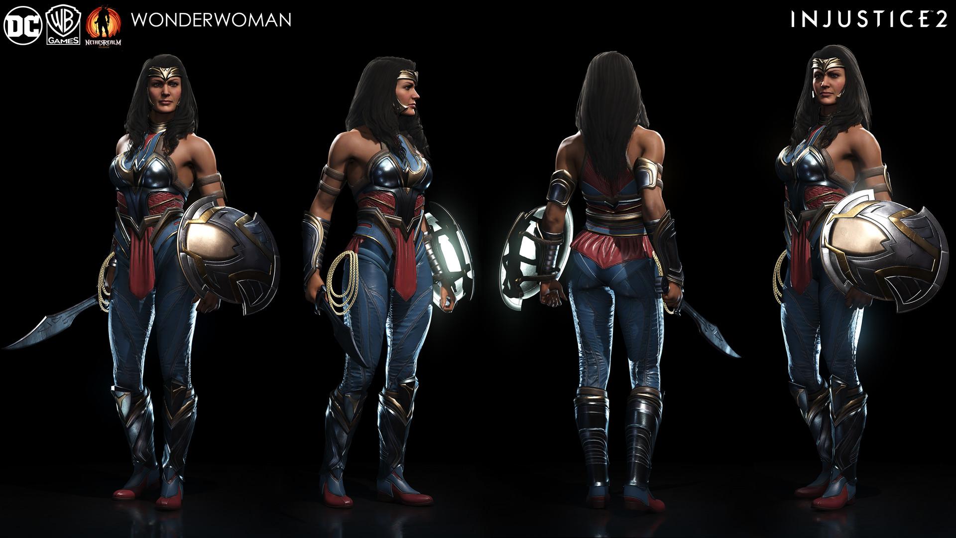 Harley Quinn 3d Wallpaper Injustice 2 Character Renders