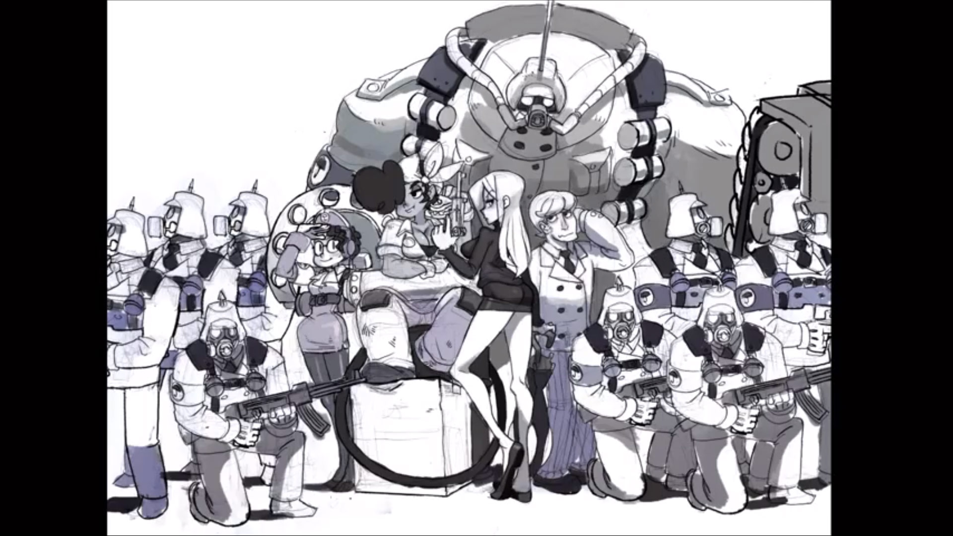 Gundam Girl Wallpaper Skullgirls Concept Artwork