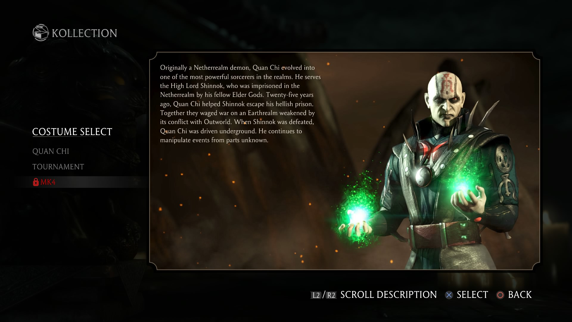 Wallpaper Predator 3d Quan Chi Mortal Kombat