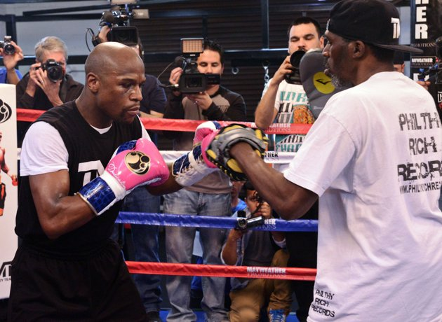 mayweather media day fight hub tv