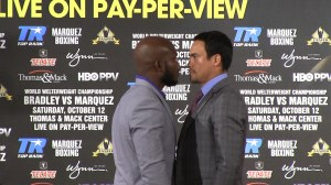 bradley and marquez face off