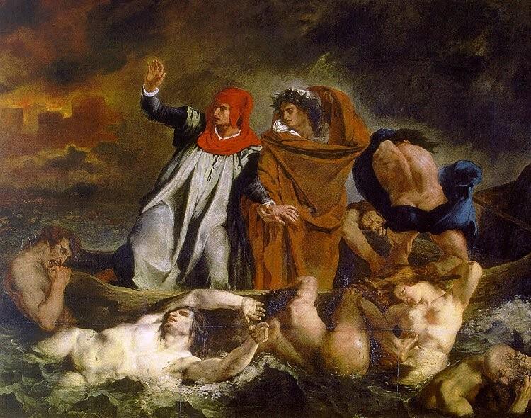 Eugène Delacroix | Die Dante-Barke