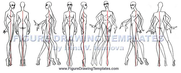 How to draw female figure with Figure Drawing Templates