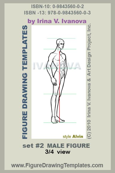 male figure drawing, fashion drawing and fashion illustration templates