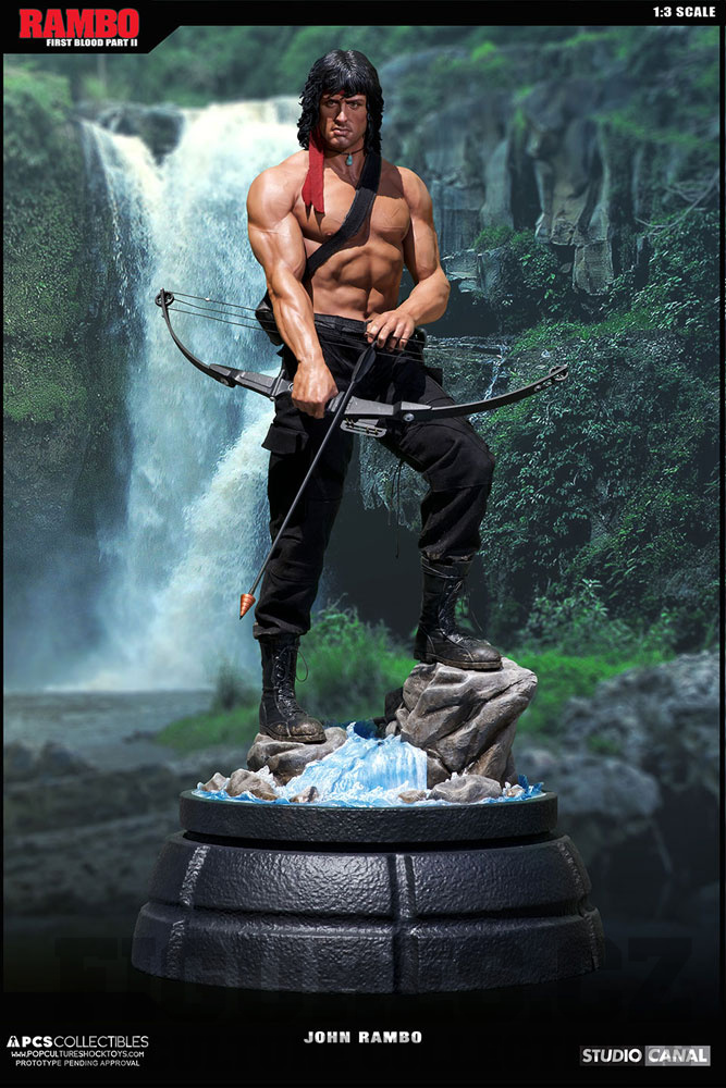 The Fast And The Furious Cars Wallpaper Rambo First Blood Part Ii Mixed Media Statue 1 3 John