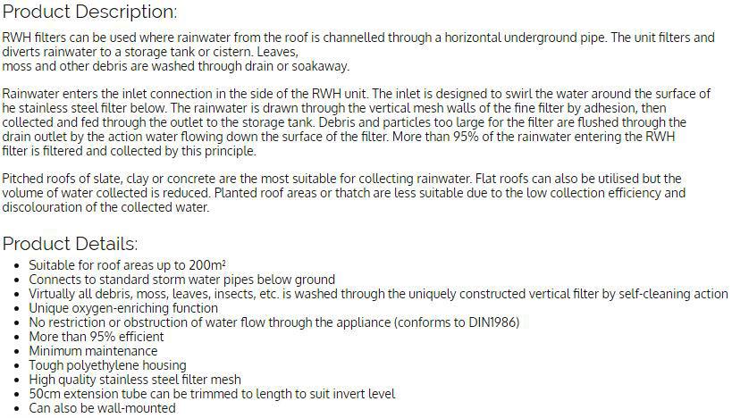 Rain Water Harvesting Systems