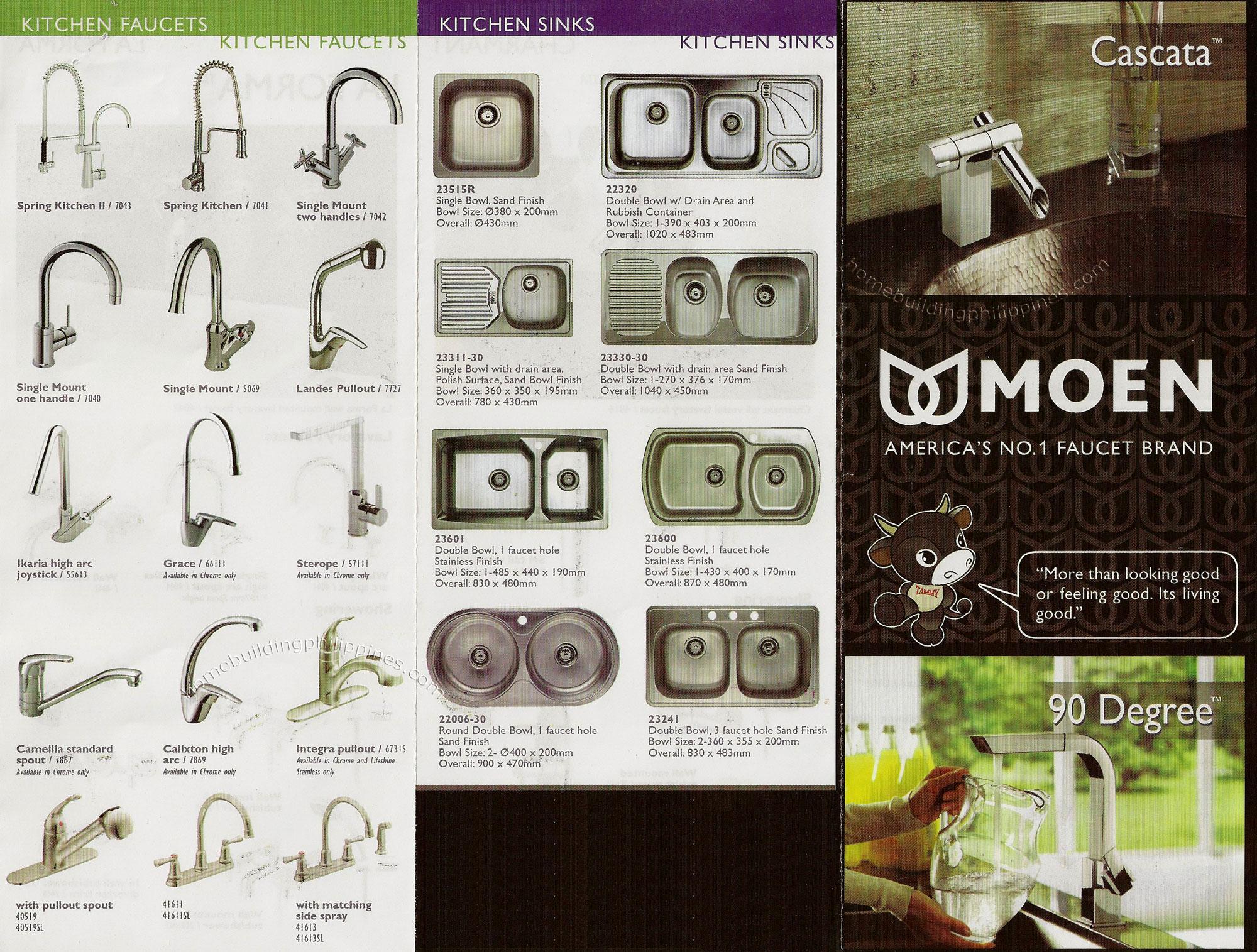 tamsons moen kitchen faucet Moen Kitchen Faucets Sinks