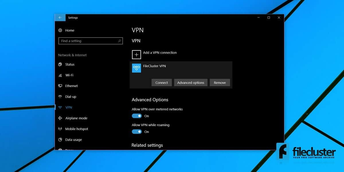 How To Set Up a VPN Connection in Windows 10 \u2013 FileCluster How Tos