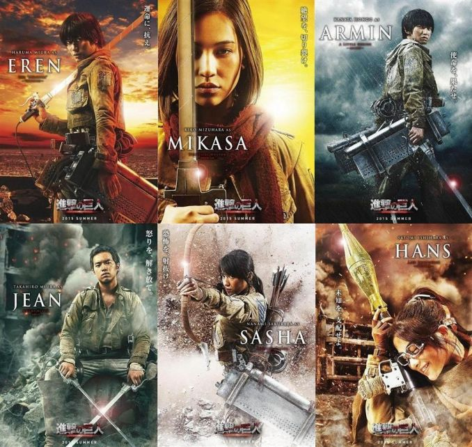 The Main casts of the Attack on Titans Live Action Movie