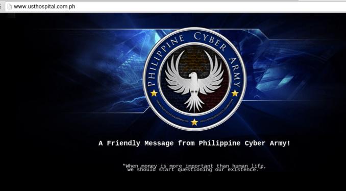 UST hospital website hacked