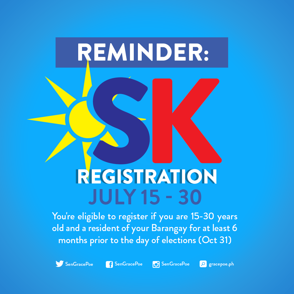 Voter registration for SK, barangay elections until July 30 only - COMELEC