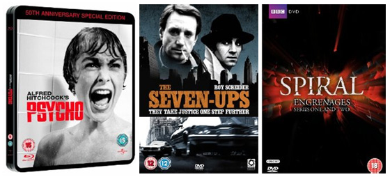 DVD and Blu-ray Releases: Psycho / The Seven-Ups / Spiral Series 1 and 2