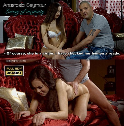 Anastasia seymour is losing virginity with a porn actor