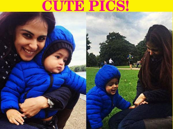 Cute Genelia D Souza Wallpapers New Pictures Of Genelia D Souza With Baby Riaan On