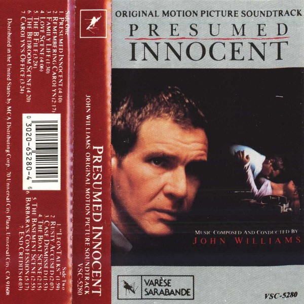 Film Music Site - Presumed Innocent Soundtrack (John Williams - presumed innocent 1990