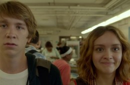 """Thomas Mann as """"Greg"""" and Olivia Cooke as """"Rachel"""" in ME AND EARL AND THE DYING GIRL. Photo coutesy of Fox Searchlight Pictures. © 2015 Twentieth Century Fox Film Corporation All Rights Reserved"""