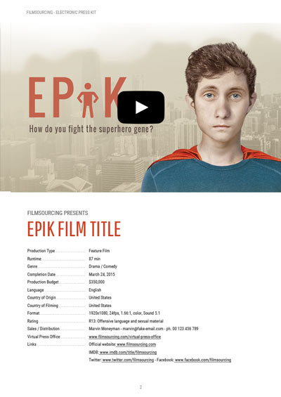 EPK Electronic Press Kit Tutorial - FREE Templates for Film