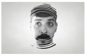 Animated mograph portrait using Cinema 4D