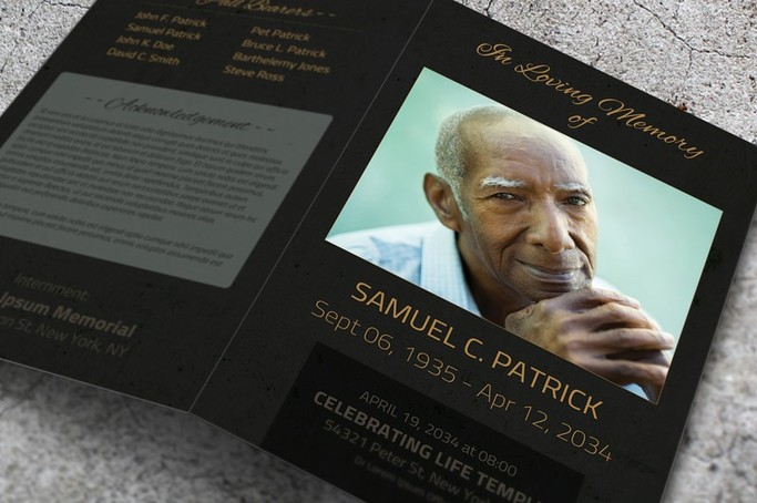 Heartwarming Funeral Program Templates - FinalTributenet - how to make a funeral program in word
