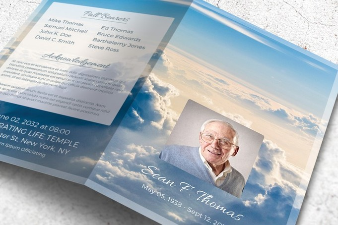 An Uplifting Memorial Program - When I Look into the Skies - memorial program