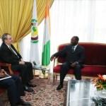 Le président ivoirien Alassane Ouattara reçoit le nouveau président de la BAD