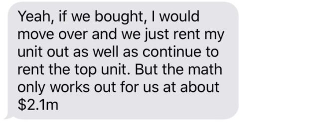 Text offer from my neighbor